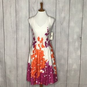 Jones Wear spring sleeveless midi dress NWT